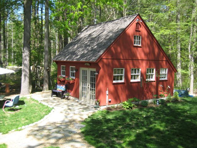 Red Carriage House Playroom