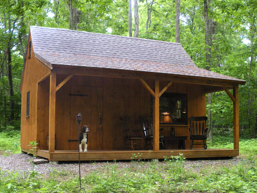 Timber Frame Hunting cabin