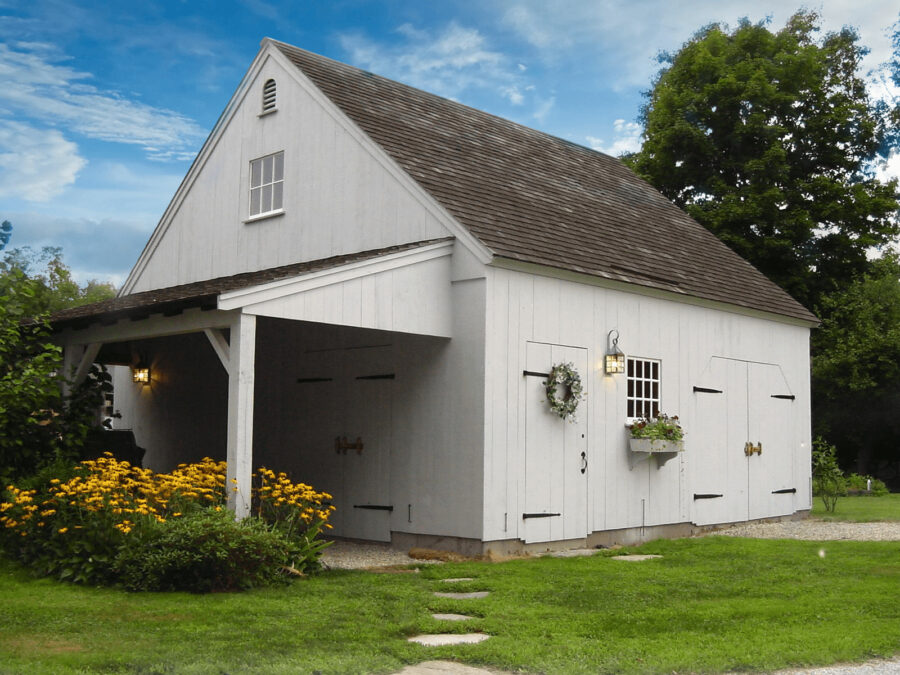 Grey One Story Post and Beam Barn
