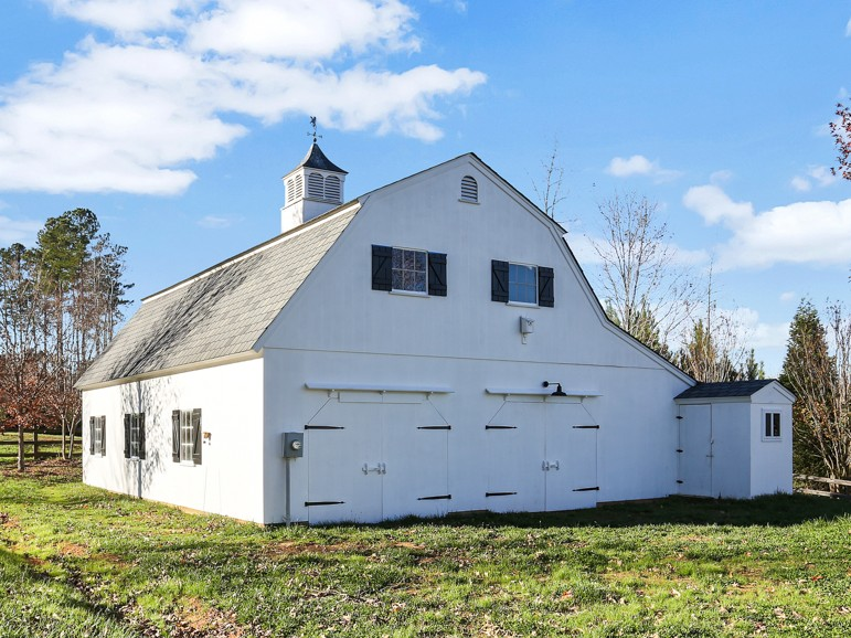 White Gambrel Barn