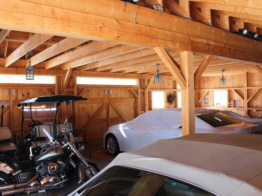 Interior Timber Frame Garage