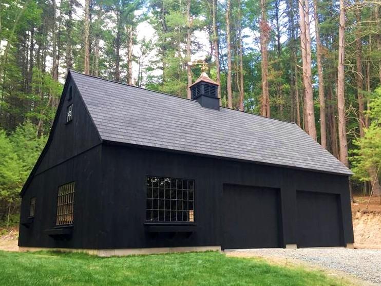 Black Timber Frame Barn