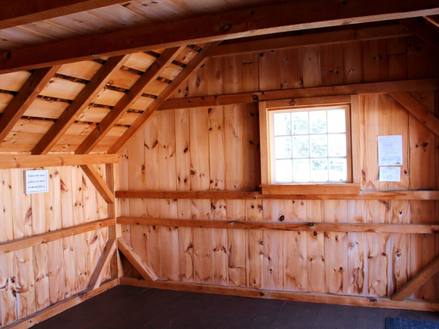 Inside view of a Saltbox Garden Shed