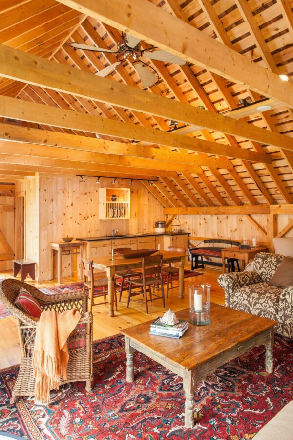 Interior Post and Beam Carriage House