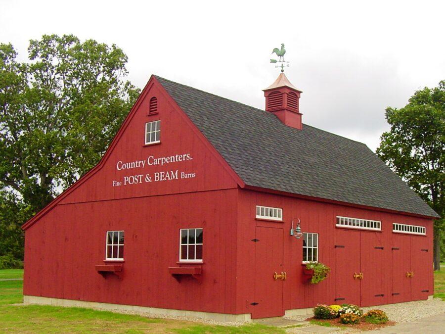 Red Timber Frame Barn