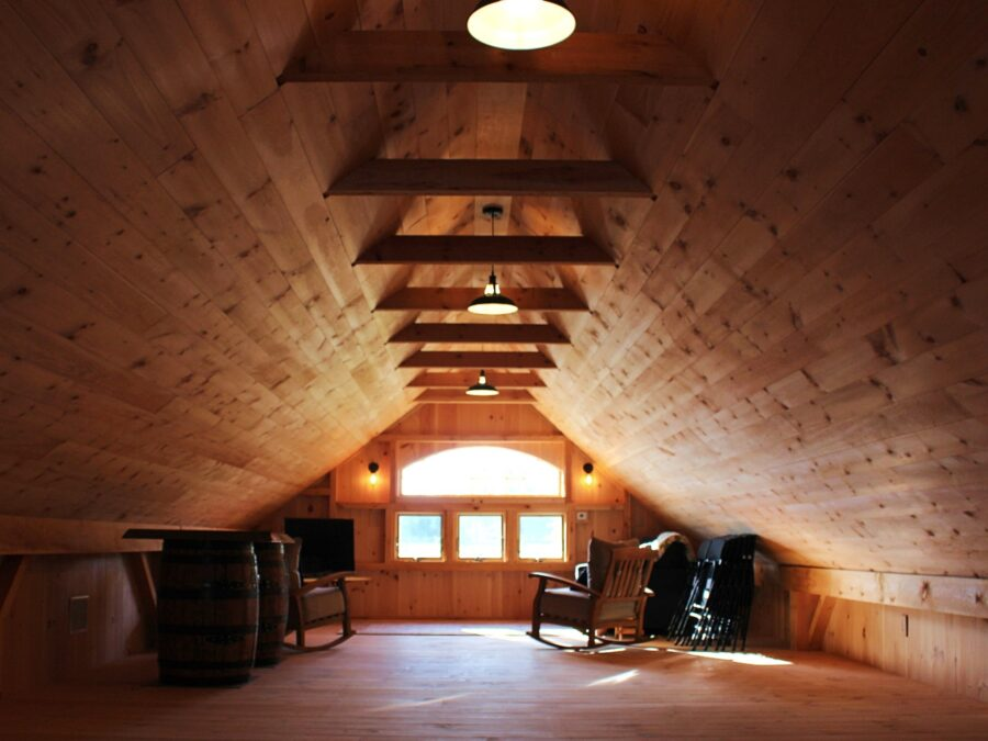 Interior 2nd Floor of Post and Beam Saltbox