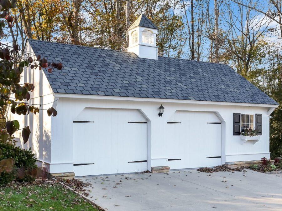 White Carriage House Garage